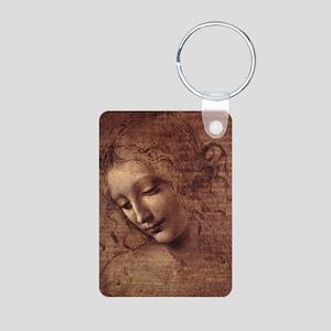 Female Head Aluminum Photo Keychain