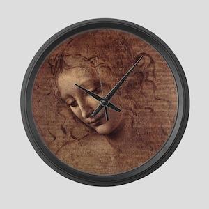 Female Head Large Wall Clock