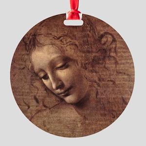 Female Head Round Ornament