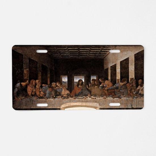 Last Supper Aluminum License Plate