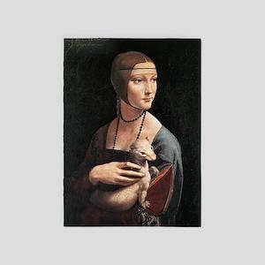 Lady with an Ermine 5'x7'Area Rug