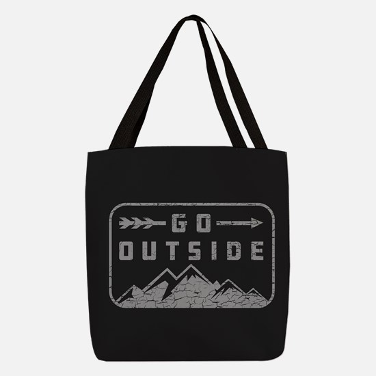 Go Outside Polyester Tote Bag