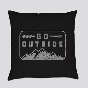 Go Outside Everyday Pillow