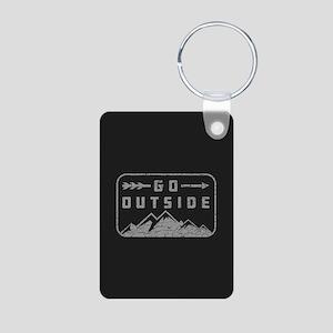 Go Outside Aluminum Photo Keychain