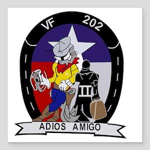 """vf-202_adios_amigo Square Car Magnet 3"""" x 3"""""""