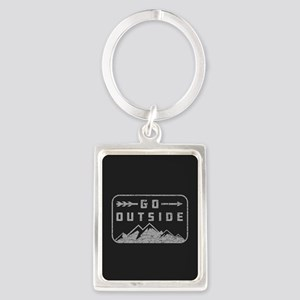 Go Outside Portrait Keychain