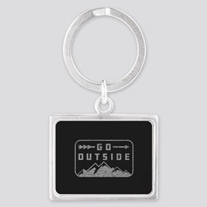 Go Outside Landscape Keychain