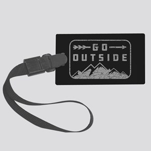 Go Outside Large Luggage Tag