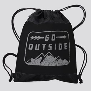 Go Outside Drawstring Bag