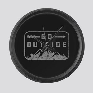 Go Outside Large Wall Clock