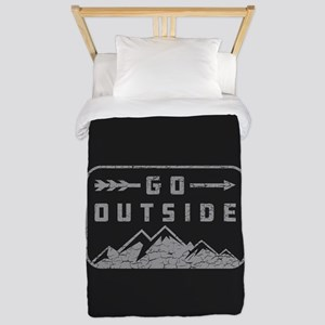 Go Outside Twin Duvet Cover