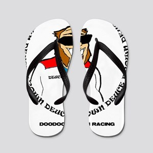 doodoo brown racing Flip Flops