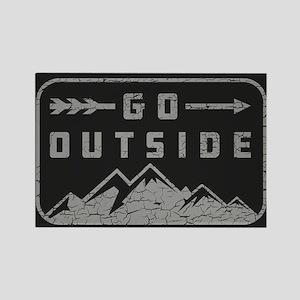 Go Outside Rectangle Magnet
