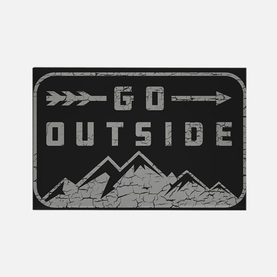 Go Outside Rectangle Magnet