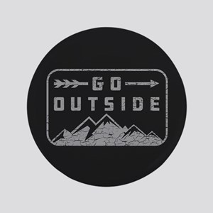 "Go Outside 3.5"" Button"