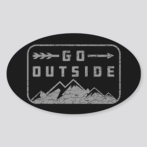 Go Outside Sticker (Oval)