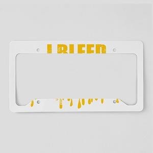 BLEED GOLD License Plate Holder