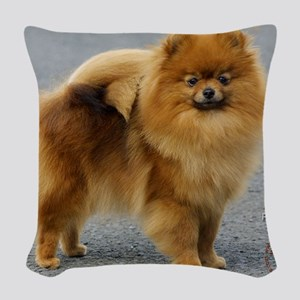 Pomeranian 9R042D-22 Woven Throw Pillow