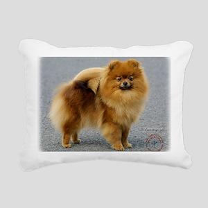 Pomeranian 9R042D-22 Rectangular Canvas Pillow