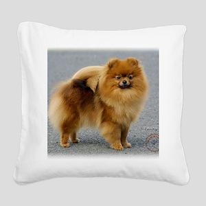 Pomeranian 9R042D-22 Square Canvas Pillow