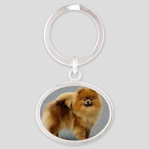 Pomeranian 9R042D-22 Oval Keychain