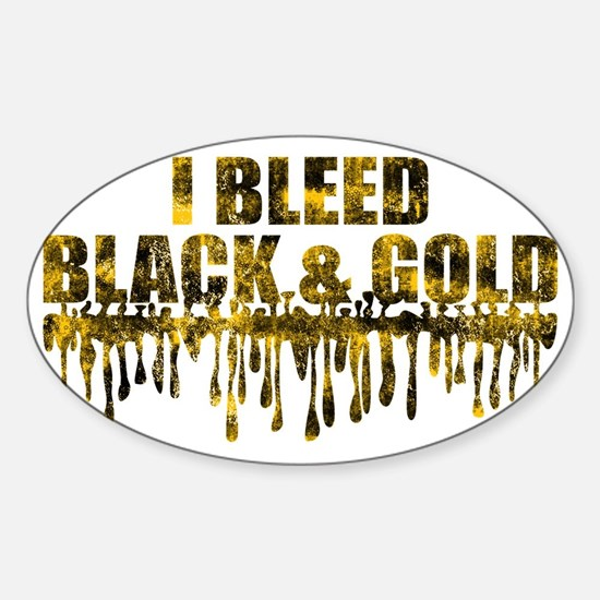 BLEED BLACK Sticker (Oval)