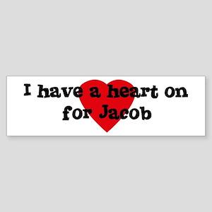 Heart on for Jacob Bumper Sticker