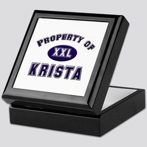 Property of krista Keepsake Box