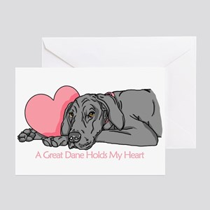 Black UC Holds Heart Greeting Cards (Pk of 10)