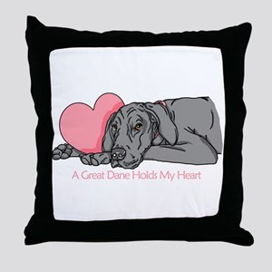 Black UC Holds Heart Throw Pillow