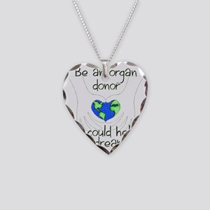 blanket graphic Necklace Heart Charm