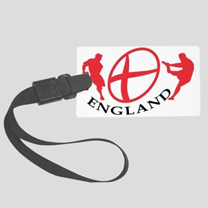 England Rugby player passing kic Large Luggage Tag