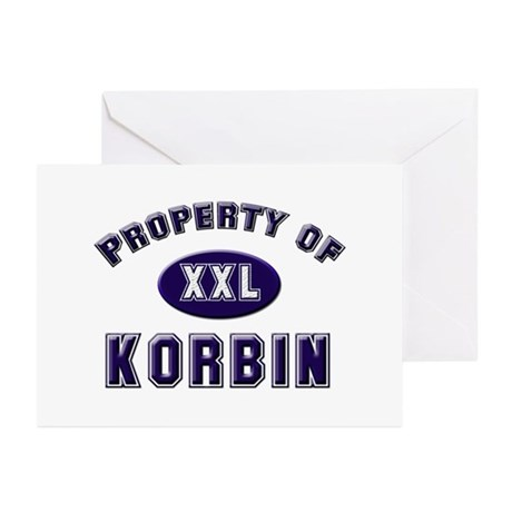 Property of korbin Greeting Cards (Pk of 10)