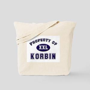 Property of korbin Tote Bag