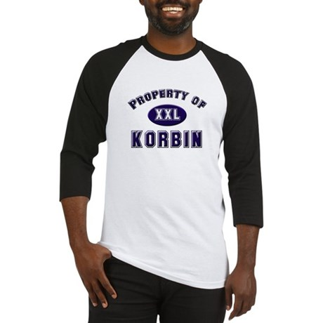 Property of korbin Baseball Jersey