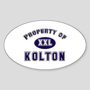 Property of kolton Oval Sticker