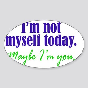 notmyself_btle2 Sticker (Oval)