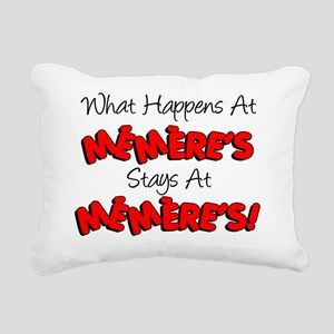 What Happens At Memeres Rectangular Canvas Pillow