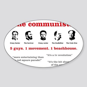 the-communists3 Sticker (Oval)