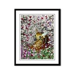 Bambina Fawn in Flowers I Framed Panel Print