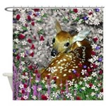 Bambina the Fawn in Flowers I Shower Curtain