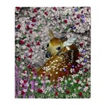 Bambina Fawn in Flowers I Throw Blanket