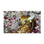 Bambina Fawn in Flowers I 35x21 Wall Decal