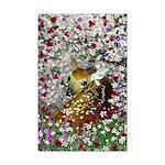 Bambina Fawn in Flowers I Mini Poster Print