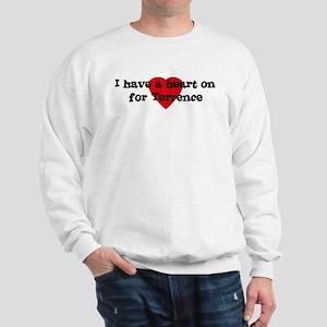Heart on for Terrence Sweatshirt