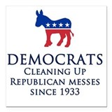 Democrat Square Car Magnets