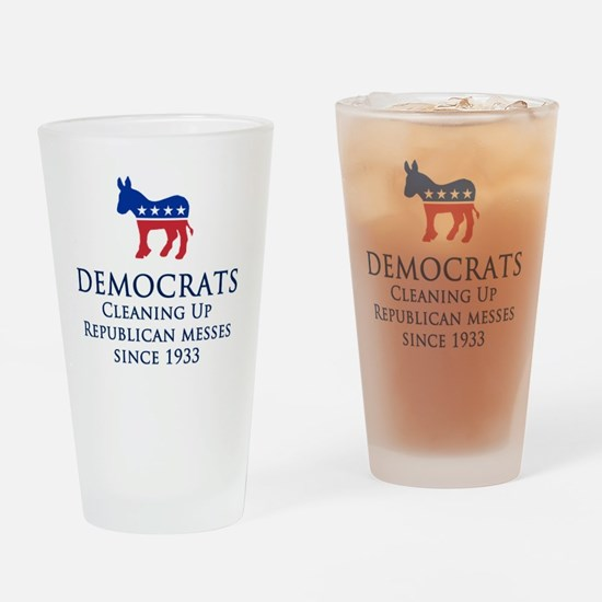 Democrats Cleaning Drinking Glass
