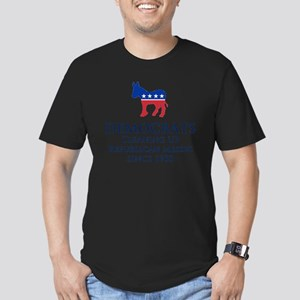 Democrats Cleaning Men's Fitted T-Shirt (dark)