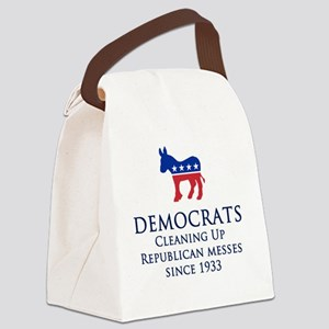 Democrats Cleaning Canvas Lunch Bag