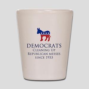 Democrats Cleaning Shot Glass